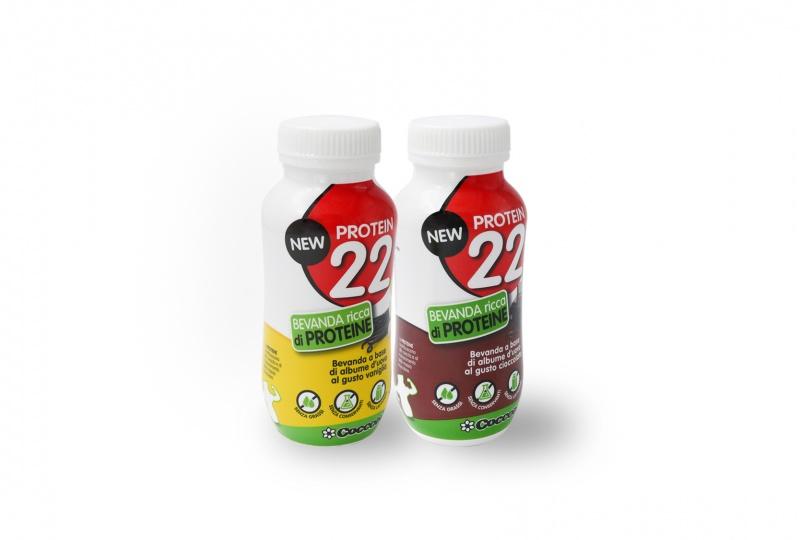 New Protein 22- bevanda a base di albume al gusto cioccolato e vaniglia